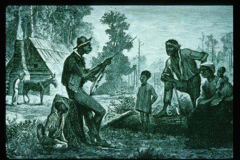 Slave music.